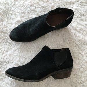 Lucky Brand Black Ankle Booties